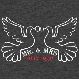 Mr And Mrs Since 1990 Married Marriage Engagement - Men's V-Neck T-Shirt by Canvas