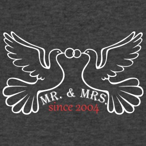 Mr And Mrs Since 2004 Married Marriage Engagement - Men's V-Neck T-Shirt by Canvas