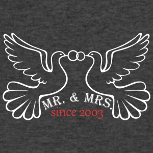 Mr And Mrs Since 2003 Married Marriage Engagement - Men's V-Neck T-Shirt by Canvas