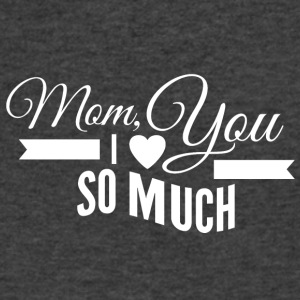 mom_i_love_you_so_much_white - Men's V-Neck T-Shirt by Canvas