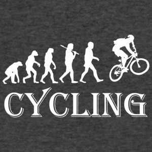 Cycle Evolution Cycling - Men's V-Neck T-Shirt by Canvas
