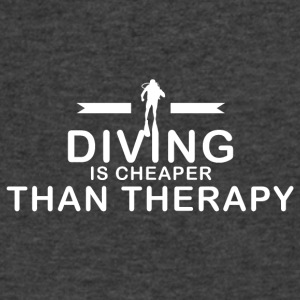 Diving is cheaper than therapy - Men's V-Neck T-Shirt by Canvas