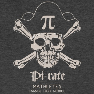 Pi rate MATHLETES CASSIUS HIGH SCHOOL - Men's V-Neck T-Shirt by Canvas
