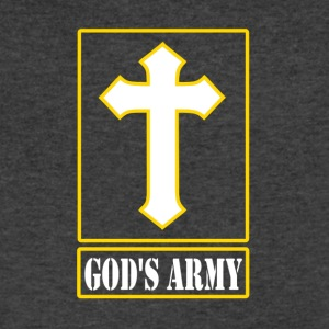 God's Army - Men's V-Neck T-Shirt by Canvas