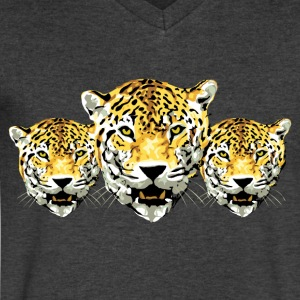 Tigers - Men's V-Neck T-Shirt by Canvas