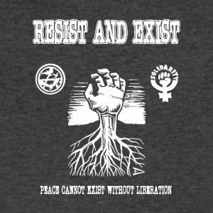 Resist and Exist - Men's V-Neck T-Shirt by Canvas