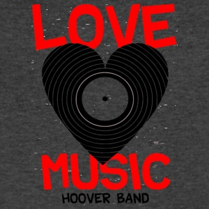 Love Music Hoover Band - Men's V-Neck T-Shirt by Canvas