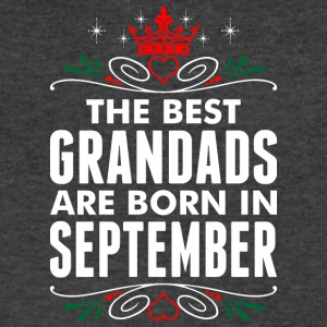The Best Grandads Are Born In September - Men's V-Neck T-Shirt by Canvas