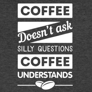 Coffee understands - Men's V-Neck T-Shirt by Canvas