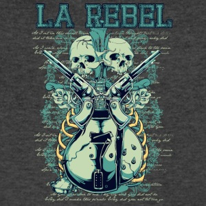 la rebel skulls with guns and guitars - Men's V-Neck T-Shirt by Canvas