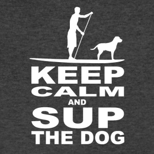 KEEP CALM and SUP the DOG - Men Edition - white - Men's V-Neck T-Shirt by Canvas