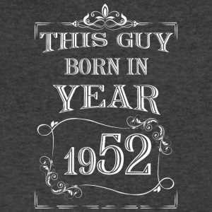 this guy born in year 1952 white - Men's V-Neck T-Shirt by Canvas