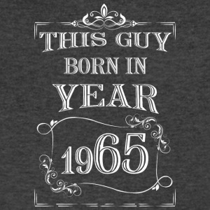this guy born in year 1965 white - Men's V-Neck T-Shirt by Canvas