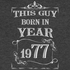 this guy born in year 1977 white - Men's V-Neck T-Shirt by Canvas