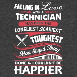Falling In Love With A Technician Tee Shirt - Men's V-Neck T-Shirt by Canvas