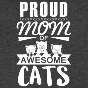 Mom of awesome cats - Men's V-Neck T-Shirt by Canvas