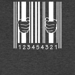Barcode Jail - Men's V-Neck T-Shirt by Canvas
