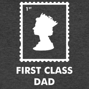 First Class Dad - Men's V-Neck T-Shirt by Canvas