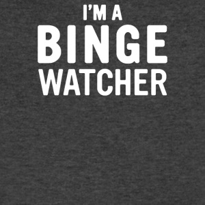 I Am A Binge Watcher - Men's V-Neck T-Shirt by Canvas