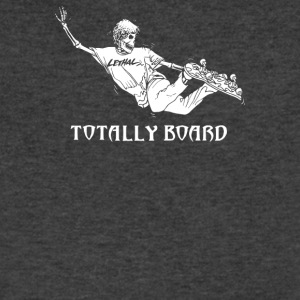 TOTALLY BOARD SKATEBOARD - Men's V-Neck T-Shirt by Canvas