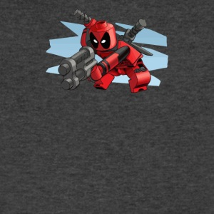 lego deadpool - Men's V-Neck T-Shirt by Canvas