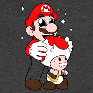 Mario Licking Toad - Men's V-Neck T-Shirt by Canvas