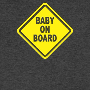 Baby On Board Bumper Sticker Decal Safety Cute Fun - Men's V-Neck T-Shirt by Canvas