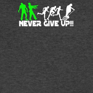 Zombie never give up Fun - Men's V-Neck T-Shirt by Canvas