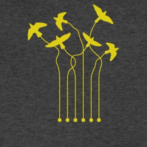 Guitar Doves - Men's V-Neck T-Shirt by Canvas