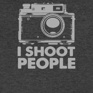 I Shoot People White Camera - Men's V-Neck T-Shirt by Canvas