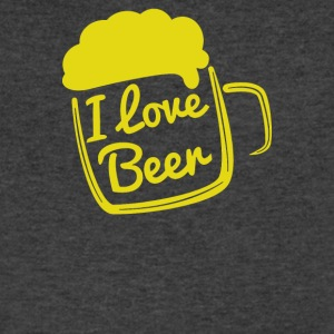 I love beer - Men's V-Neck T-Shirt by Canvas