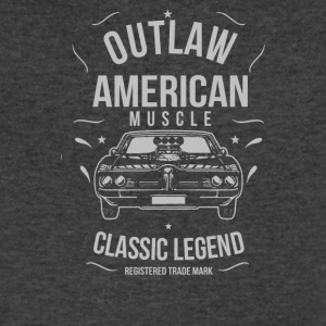 Outlaw American Muscle - Men's V-Neck T-Shirt by Canvas