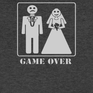 Wedding Funny GAME OVER - Men's V-Neck T-Shirt by Canvas