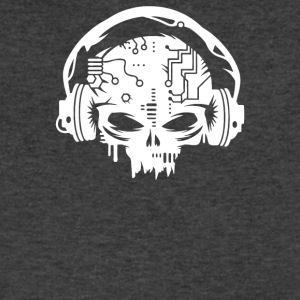 Cyber Skull With Headphones - Men's V-Neck T-Shirt by Canvas