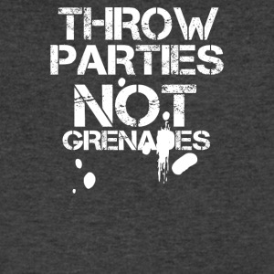 Throw Parties Not Grenades - Men's V-Neck T-Shirt by Canvas