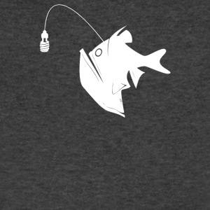 Angler Fish with Green Light Bulb - Men's V-Neck T-Shirt by Canvas