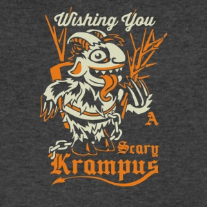 Scary Krampus - Men's V-Neck T-Shirt by Canvas