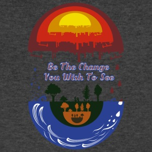 Be the change you wish to see - Men's V-Neck T-Shirt by Canvas