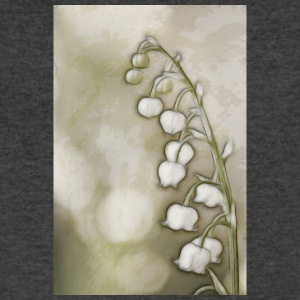 Lily of the Valley Flowers Sketch - Men's V-Neck T-Shirt by Canvas