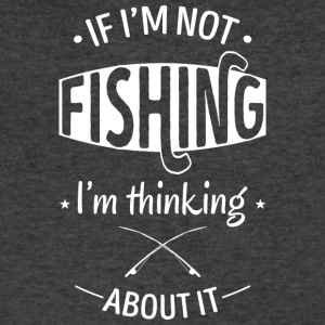 Thinking about fishing - Men's V-Neck T-Shirt by Canvas