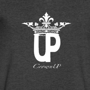 crownUP WHT EM - Men's V-Neck T-Shirt by Canvas