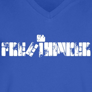 NEW FREE THINKER Tee - Men's V-Neck T-Shirt by Canvas