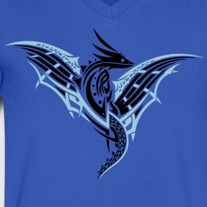 Fantasy dragon with wings - Men's V-Neck T-Shirt by Canvas