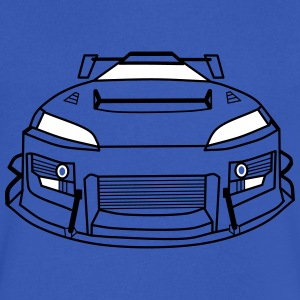 Race car - Men's V-Neck T-Shirt by Canvas