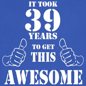 39th Birthday Get Awesome T Shirt Made in 1978 - Men's V-Neck T-Shirt by Canvas
