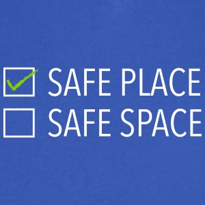 safe place safe space - Men's V-Neck T-Shirt by Canvas