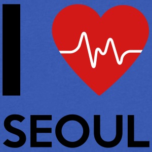 I Love Seoul - Men's V-Neck T-Shirt by Canvas