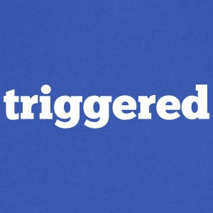Triggered: Official logo of the Youtube Channel - Men's V-Neck T-Shirt by Canvas