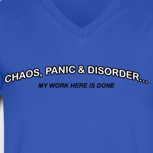 Chaos, Panic and Disorder - My Work Here Is Done - Men's V-Neck T-Shirt by Canvas
