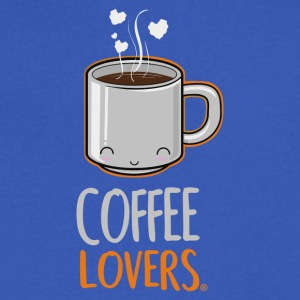 COFFEE LOVERS - Men's V-Neck T-Shirt by Canvas